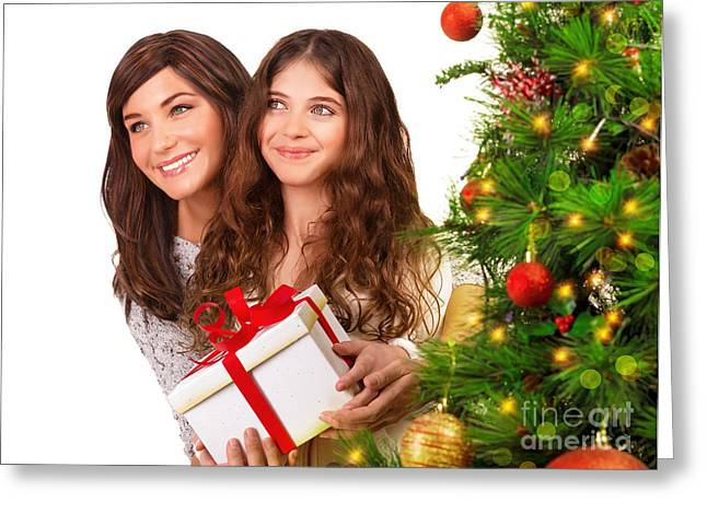 Receive Christmas gift Greeting Card by Anna Omelchenko