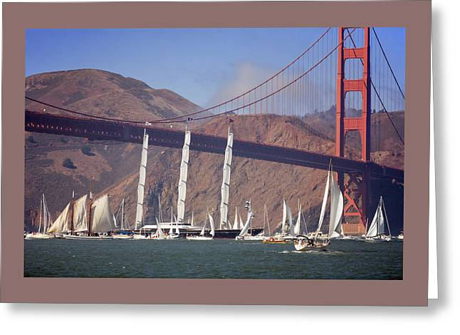 Maltese Falcon Greeting Cards - Reception at the Golden Gate Greeting Card by Daniel Furon
