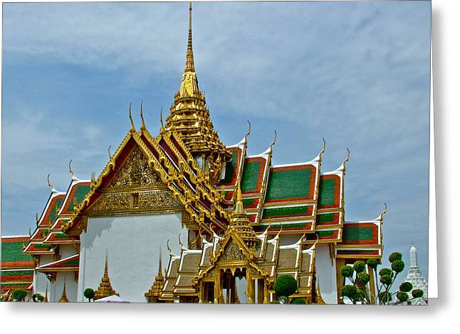 Reception Digital Art Greeting Cards - Reception Hall at Grand Palace of Thailand in Bangkok Greeting Card by Ruth Hager