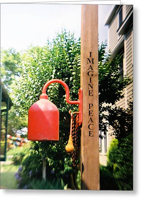 Reflex Greeting Cards - Recesky - Ironic Peace Bell Greeting Card by Richard Reeve