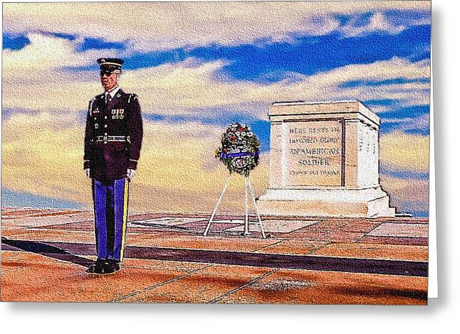 Brigade Greeting Cards - Recitation of the Requirements of Honor Guards Greeting Card by  Bob and Nadine Johnston