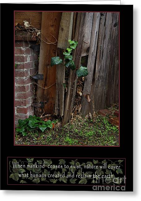 Overgrown Greeting Cards - Reclaim no.3 Greeting Card by Peter Piatt