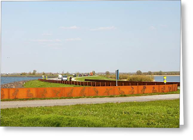 Reclaimed Polder Land In Holland Greeting Card by Ashley Cooper