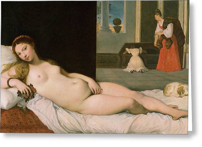 Reclining Venus Greeting Card by Ingres