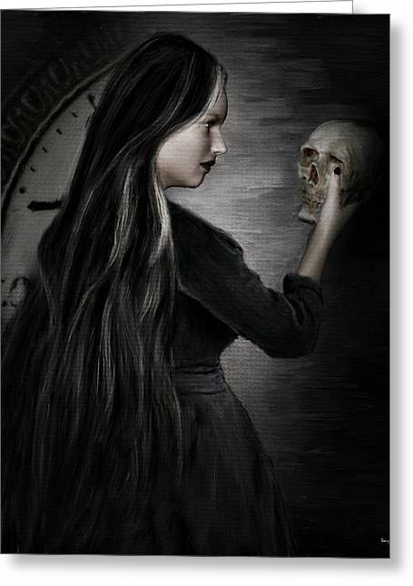Ghostly Digital Greeting Cards - Recognition Of Death Greeting Card by Lourry Legarde