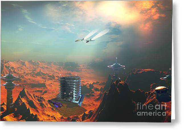 Recon Greeting Cards - Recon over Seneca 3 Greeting Card by Corey Ford