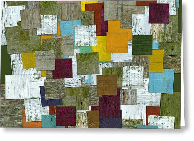 Geometric Style Greeting Cards - Reconstructing Fences l  Greeting Card by Michelle Calkins