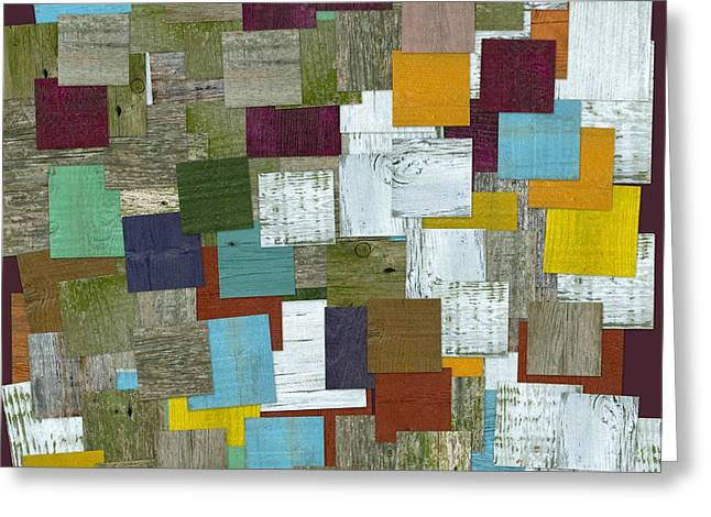 Geometric Style Greeting Cards - Reconstructing Fences ll Greeting Card by Michelle Calkins