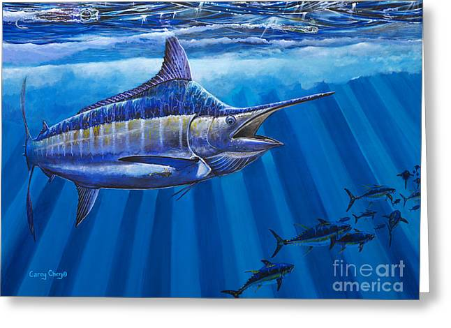 Mackerel Greeting Cards - Record Off0011 Greeting Card by Carey Chen