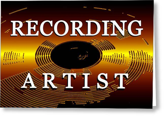 Recording Artists Greeting Cards - Recording Artist with text Greeting Card by David Lee Thompson