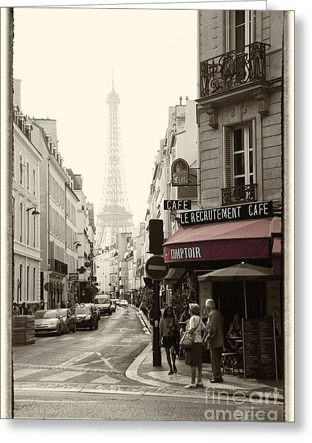 Francais Greeting Cards - Recruitment Cafe  Greeting Card by Rob Hawkins