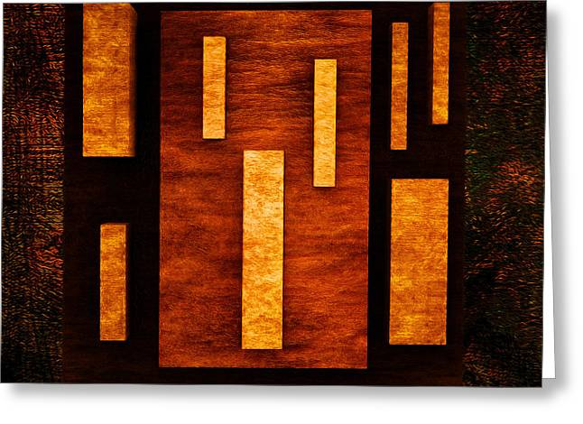 Modernism Greeting Cards - Rectangles Greeting Card by Ramon Martinez