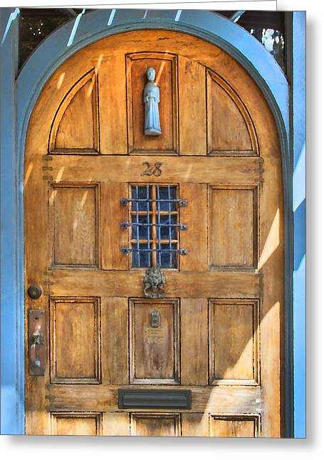 Historic Home Greeting Cards - Rectory Door Greeting Card by Rich Franco