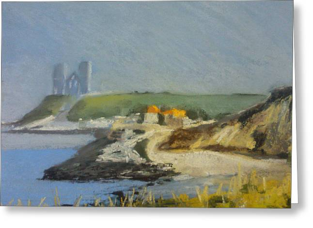 Haze Pastels Greeting Cards - Reculver Haze Greeting Card by Paul Mitchell