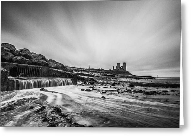 Sand Castles Greeting Cards - Reculver - long exposure. Greeting Card by Ian Hufton