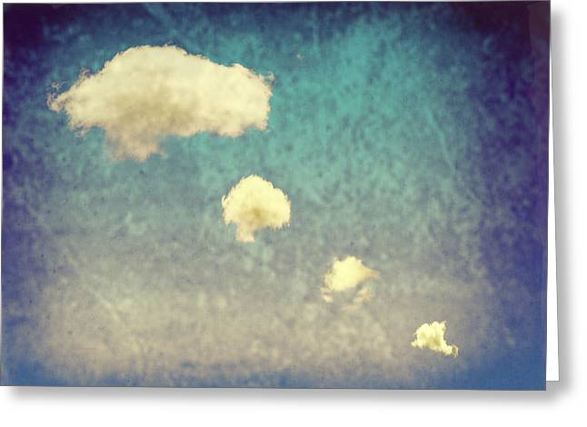 Smoke Trail Greeting Cards - Recycled Clouds Greeting Card by Amanda And Christopher Elwell