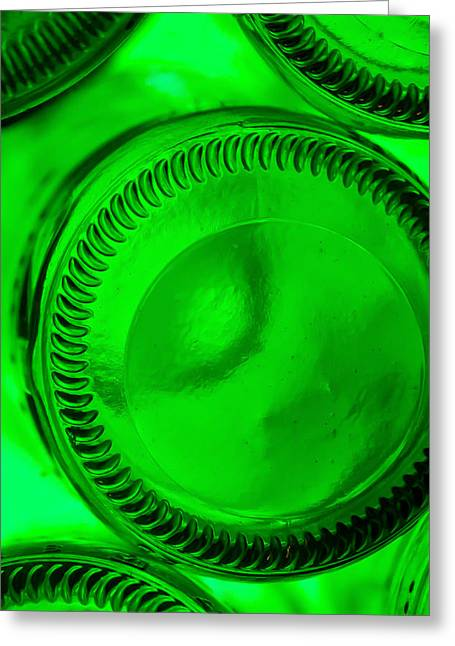 Glass Bottle Greeting Cards - Recycling Greeting Card by Gyorgy Kotorman