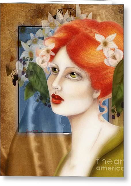 Rosy Hall Greeting Cards - Red 3 Flawed Beauty Greeting Card by Rosy Hall