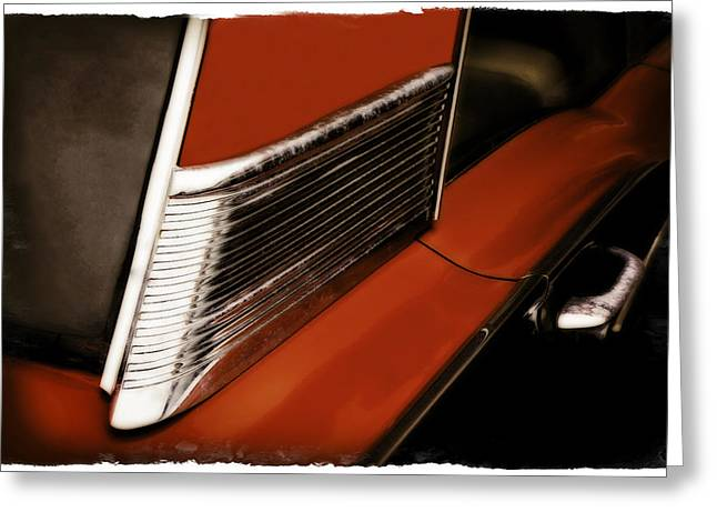 Red Chev Greeting Cards - Red 500  1 Greeting Card by Jerry Golab