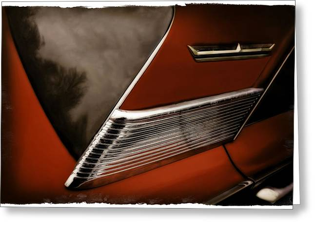 Red Chev Greeting Cards - Red 500 Greeting Card by Jerry Golab
