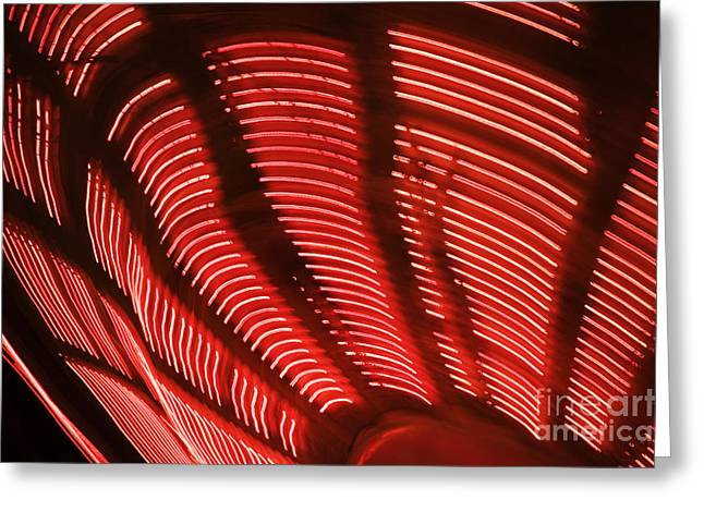 Visual Art Greeting Cards - Red Abstract light 15 Greeting Card by Tony Cordoza