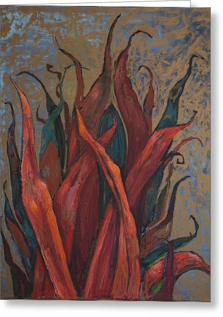 Algae Paintings Greeting Cards - Red Algae Greeting Card by Dariya Tishchenko-Zhuravel