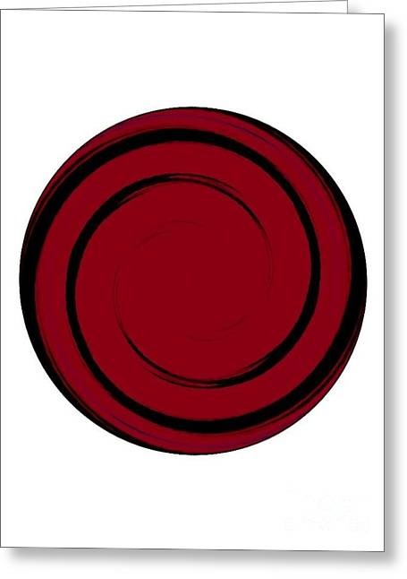 Peepholes Greeting Cards - Red And Black Greeting Card by Caroline Gilmore