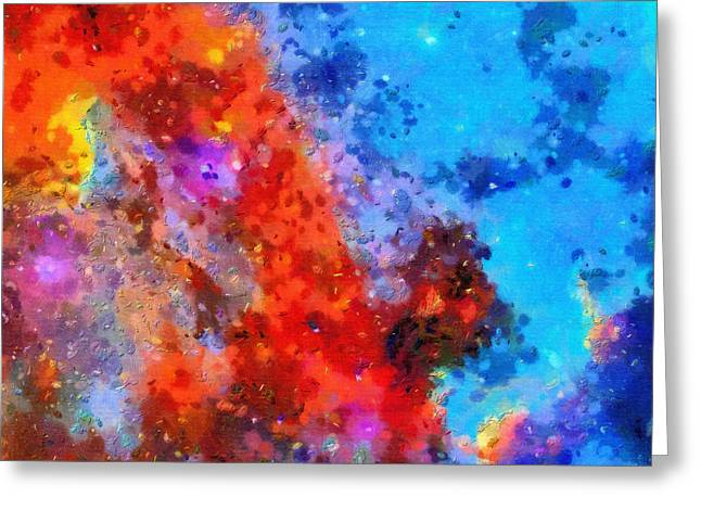 Science Greeting Cards - Red and blue Greeting Card by Magomed Magomedagaev