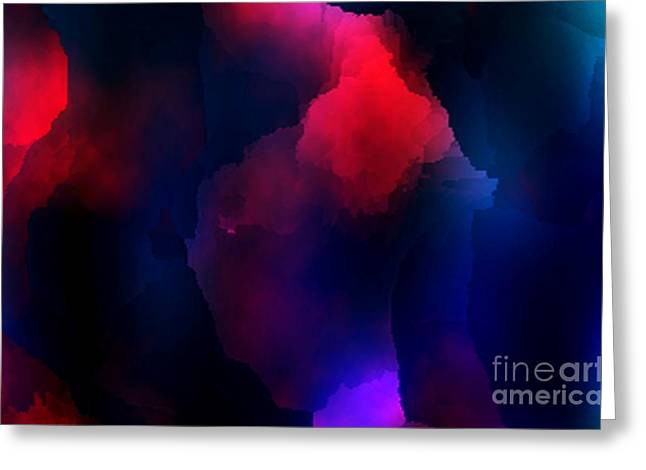 Effect Greeting Cards - Red and Blue Smoke Art  Greeting Card by Mario  Perez