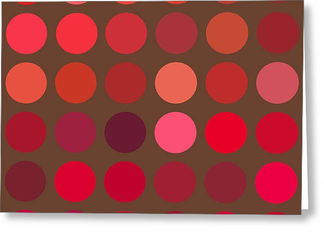 Lisa Noneman Greeting Cards - Red and Brown Greeting Card by Lisa Noneman