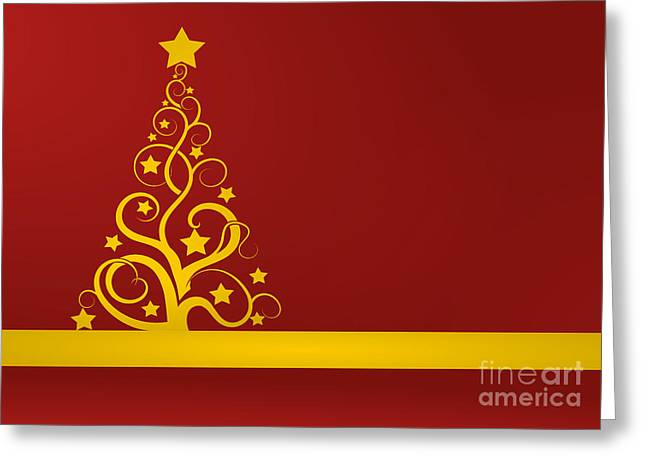 Christmas Card Ideas Greeting Cards - Red and gold Christmas card Greeting Card by Martin Capek