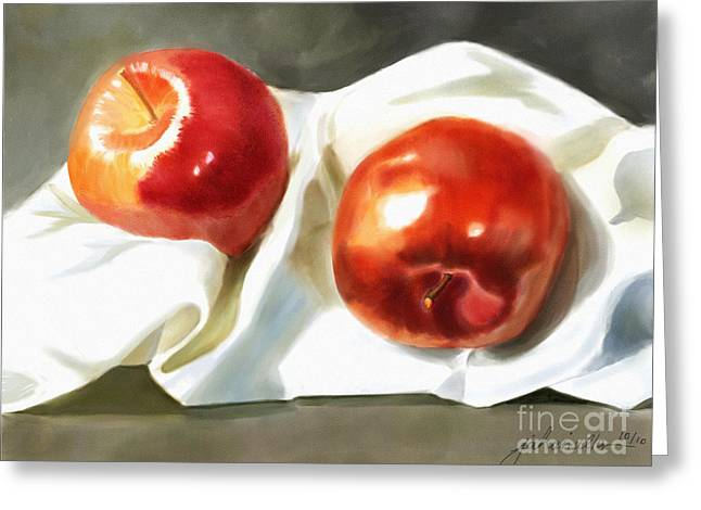 Joan A Hamilton Greeting Cards - Red and Juicy Greeting Card by Joan A Hamilton