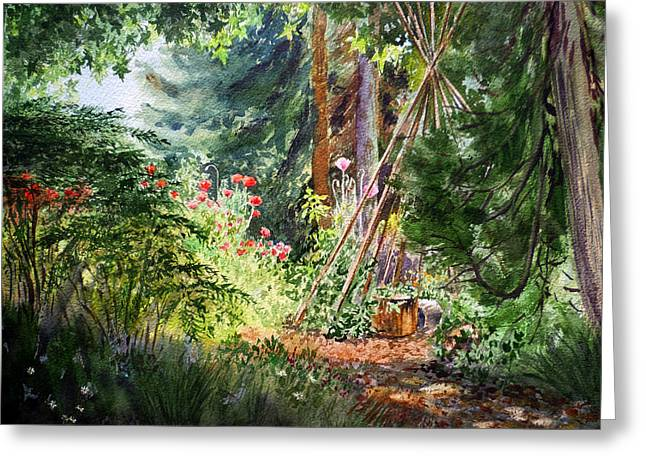 Californian Greeting Cards - Poppies Season In The Garden  Greeting Card by Irina Sztukowski