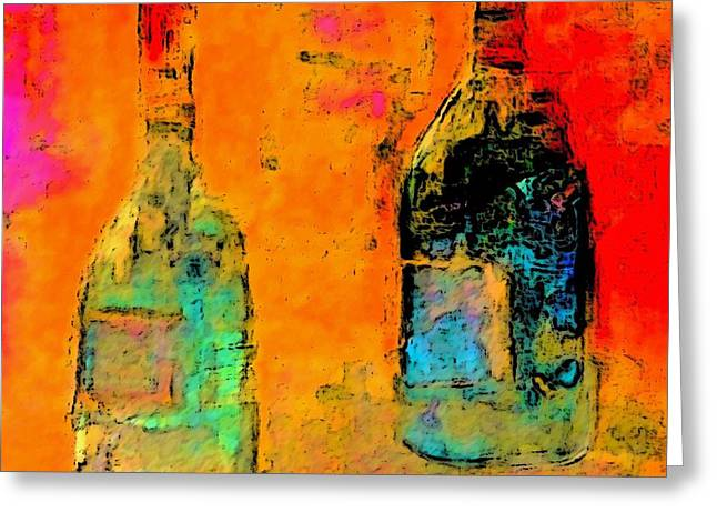 Colorful Greeting Cards - Red and White Wine Greeting Card by Lisa Kaiser