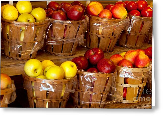 Owner Greeting Cards - Red and yellow Apples Greeting Card by Iris Richardson