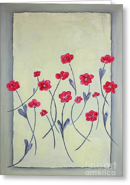 Home Art Greeting Cards - Red and yellow Greeting Card by Home Art