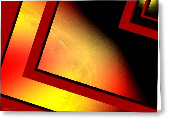 Shape Greeting Cards - Red angle with yellow Greeting Card by Mario  Perez