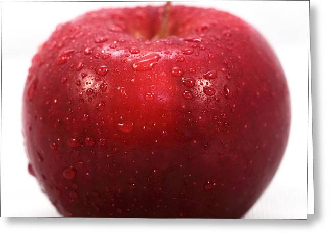 Red Photographs Greeting Cards - Red Apple Greeting Card by John Rizzuto