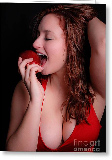 Natural Makeup Greeting Cards - Red Apple Greeting Card by Jt PhotoDesign