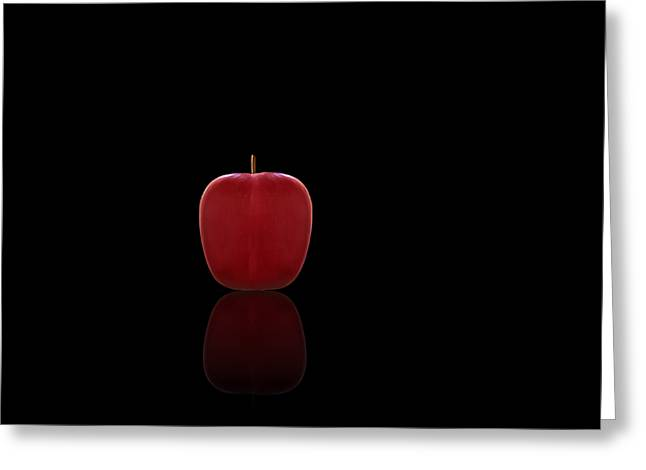 Kitchen Wall Greeting Cards - Red Apple Greeting Card by Steven  Michael