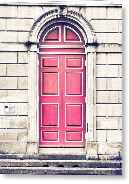 Arch Greeting Cards - Red arch door Greeting Card by Tom Gowanlock