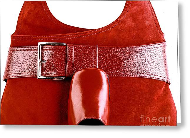 Bar Accessory Greeting Cards - Red Bag Greeting Card by Chuck Spang