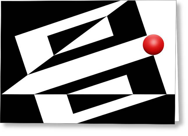 Series Art Greeting Cards - Red Ball 14 Greeting Card by Mike McGlothlen