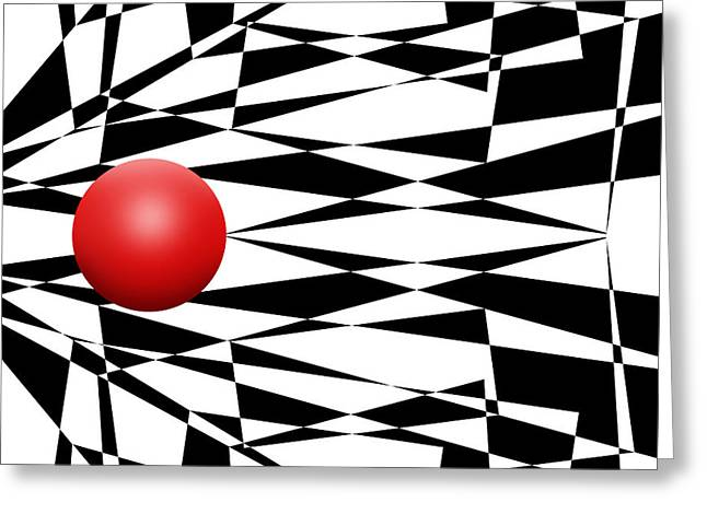 Pop Mixed Media Greeting Cards - Red Ball 18 Greeting Card by Mike McGlothlen