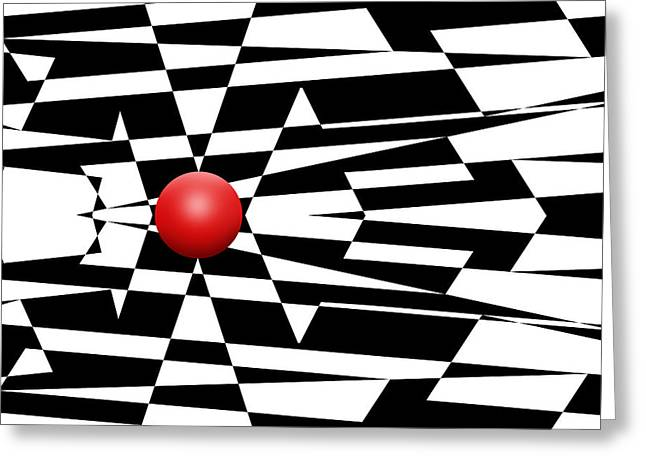 Pop Mixed Media Greeting Cards - Red Ball 24 Greeting Card by Mike McGlothlen