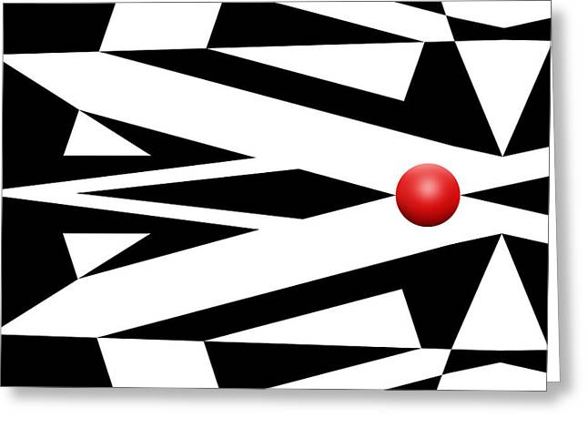 Pop Mixed Media Greeting Cards - Red Ball 26 Greeting Card by Mike McGlothlen