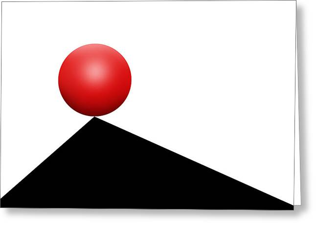 Op Art Greeting Cards - Red Ball 30 Greeting Card by Mike McGlothlen