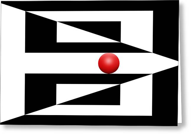 Pop Mixed Media Greeting Cards - Red Ball 4 Greeting Card by Mike McGlothlen