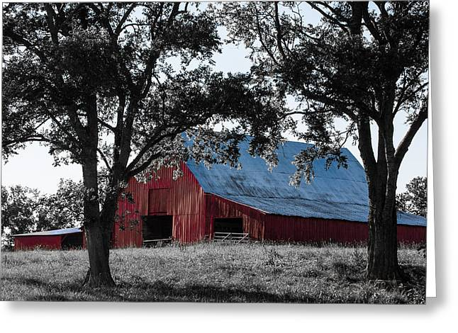 Tennessee Barn Greeting Cards - Red Barn 2 Greeting Card by Debbie Karnes