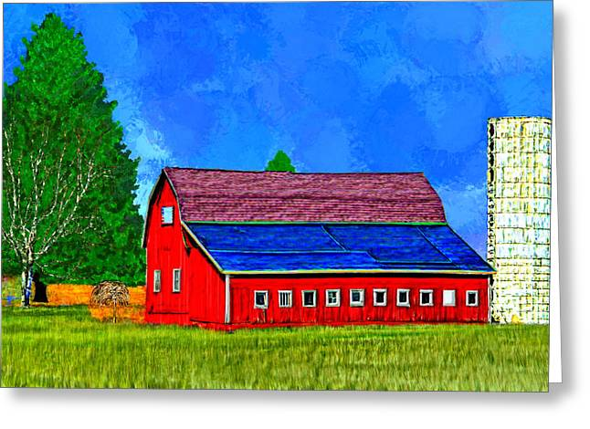 Outbuildings Greeting Cards - Red Barn in the Country Greeting Card by Bruce Nutting